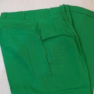 Brooks Brothers green linen dress pants